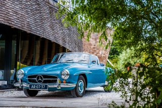 Trouwauto Mercedes SL